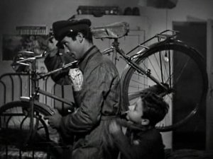 A moment from 'The Bicycle Thief'