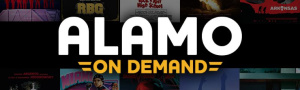The logo for the Alamo On Demand video service.
