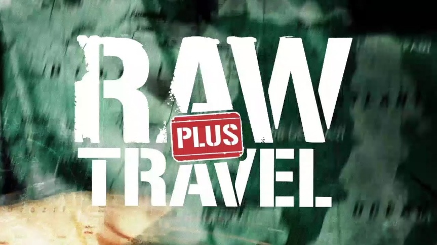Logo for Raw Travel Plus program only available on YouTube.