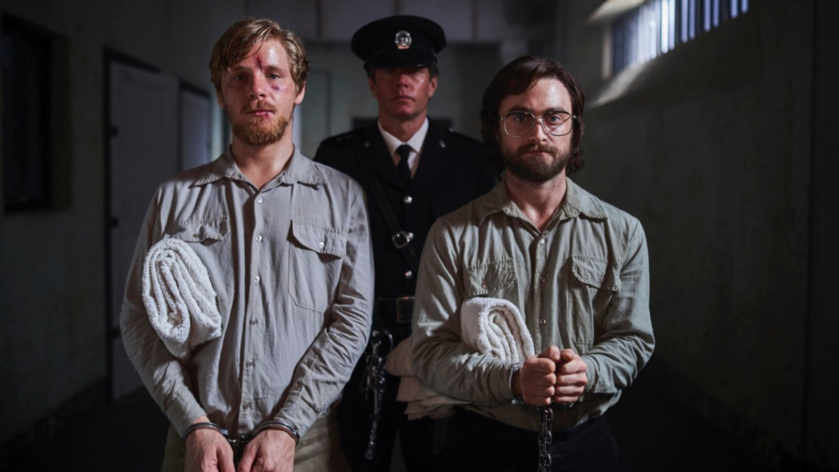 Escape From Pretoria (2020), directed by Francis Annan, starring Daniel Radcliffe, Daniel Webber, and Ian Hart.
