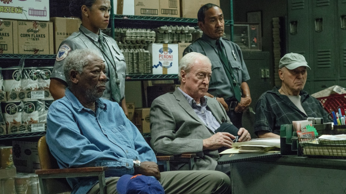 Going In Style (2017) starring Michael Caine, Alan Arkin, and Morgan Freeman.
