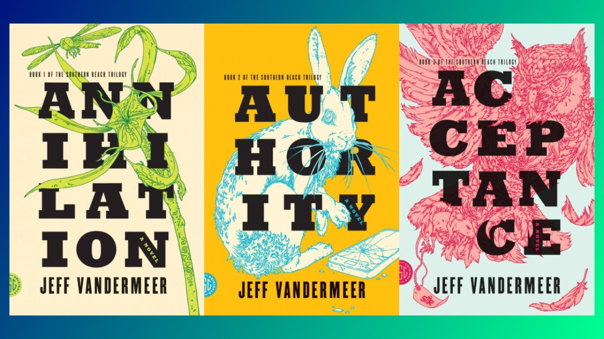 Book covers for Jeff VanderMeer's Southern Reach Trilogy