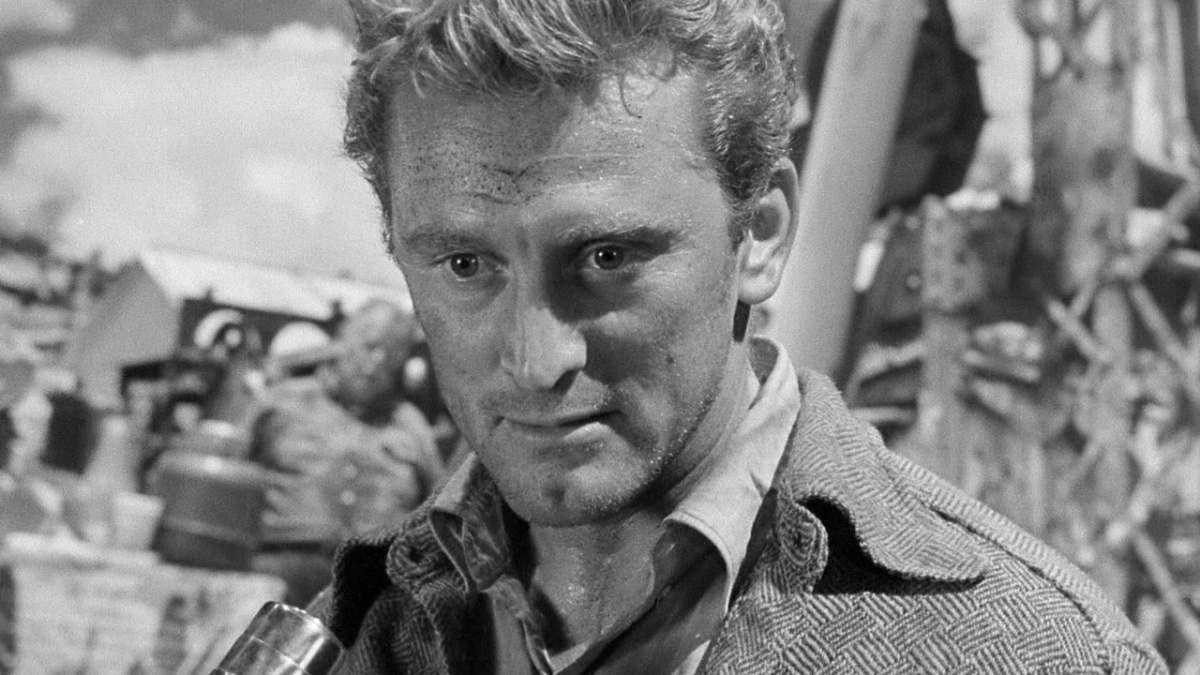Ace in the Hole (1951) directed by Billy Wilder, starring Kirk Douglas, Jan Sterling, and Robert Arthur. starring