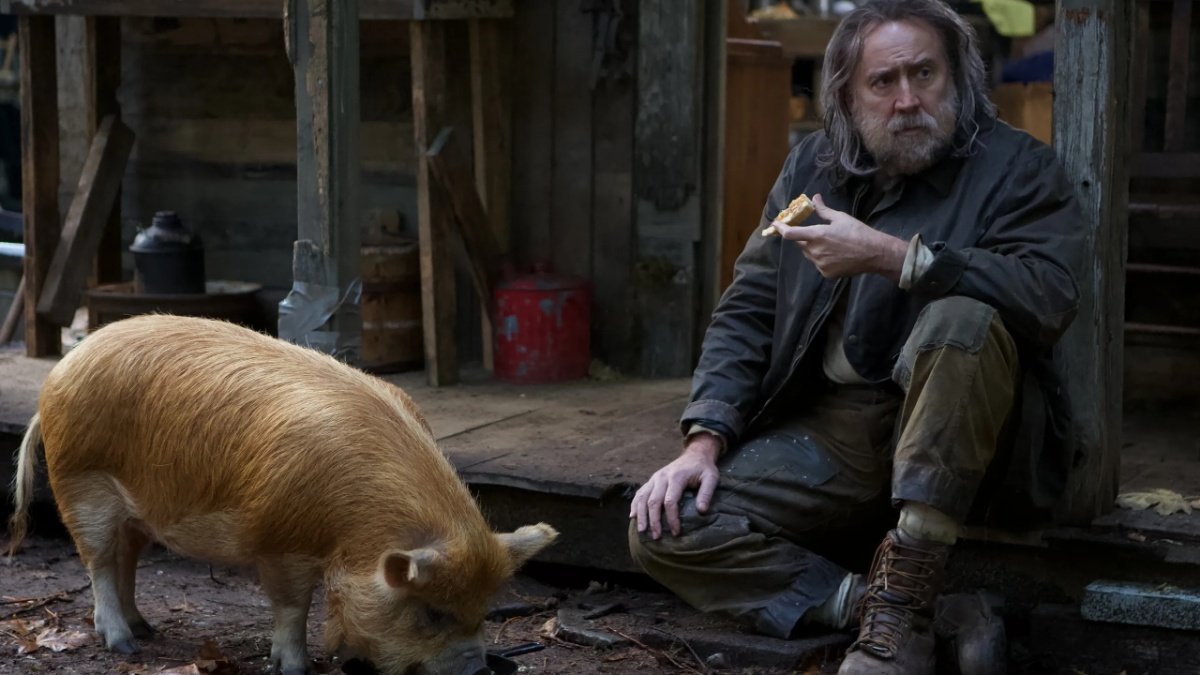 Pig (2021) is directed by Michael Sarnoski and stars Nicolas Cage